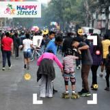 Skating at Happy Streets