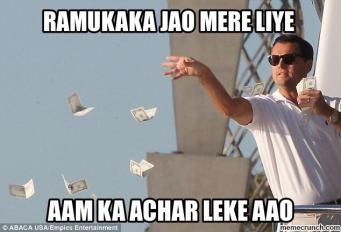 Leo spending cash meme